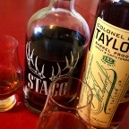 Comparison: Stagg Jr. Batch #12 / Colonel E.H. Taylor Barrel Proof